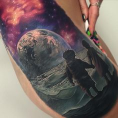Boy and Girl on Moon by Jesse Rix -
