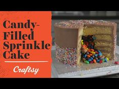 Video tutorial: Easy Cake Decorating Ideas (Candy-Filled Sprinkle Cake) on Craftsy YouTube. We can't resist the combination of sprinkles and piñata-style candy filling - watch the full tutorial to see this cake come together from start to finish!