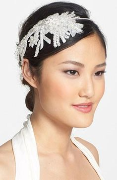 Make a statement with a floral motif headband