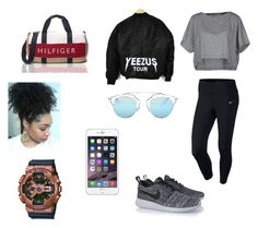 """""""outfit #112"""" by anaguilhermep98 on Polyvore featuring NIKE, M.GRIFONI DENIM, Christian Dior, Tommy Hilfiger and G-Shock"""
