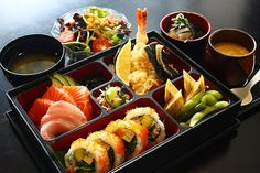 Most popular tags for this image include: food, sushi, bento, delicious and japan