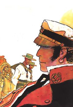 """Corto Maltese, the laconic sea captain/adventurer during the early 20th century (1900-1920s). He is a """"rogue with a heart of gold"""" - Created by Hugo Pratt in late 60's"""