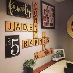 Personalized Family Number Sign Wooden Number by RusticLaneCa