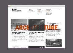 Intégral Jean Beaudoin Interface Web, Start Screen, Web Design, The Inventors, Site Web, Interactive Design, Graphic Design Inspiration, Editorial Design, Layout