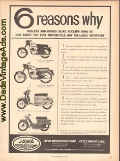 1965 Jawa Motorcycles – 6 Reasons why
