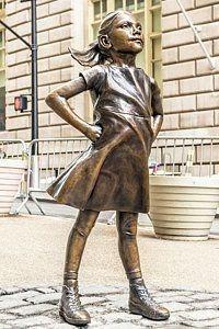 Fearless Girl - Wall Street Little Girl Poster Mixed Media Sculpture, Sculpture Art, Wall Street, Statue Tattoo, Street Girl, Arts Integration, Urban Art, Bronze, Fine Art America