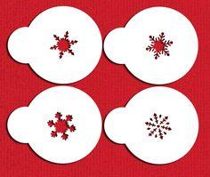Mini Snowflakes Cupcake Stencil