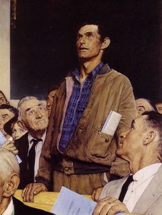 """Norman Rockwell's """"Freedom of Speech"""". One of my favorites of his. #art #moved"""