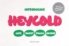 HEYCOLD CUTE FONT by FadeLine Studio