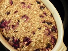 Cherry Vanilla Baked Oatmeal...I'm not a fan of oatmeal, but this sounds pretty good.