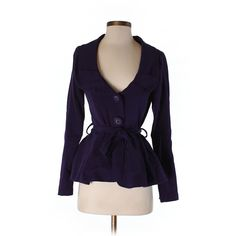 Pre-owned Nick & Mo Coat Size 0: Dark Purple Women's Jackets &... (25 CAD) ❤ liked on Polyvore featuring outerwear, coats, dark purple and purple coat