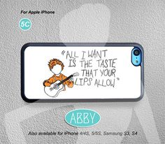 iPhone 5c case, Ed Sheeran Lyrics, iPhone case, iPhone 5case, iPhone 5c cover, Phone case, iPhone cover, case for iPhone 5c, Item No.AB-17 on Etsy, $7.99