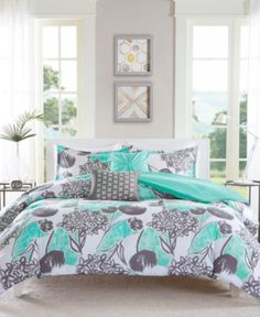 Intelligent Design Marie Comforter Set Twin/Twin XL Size - Aqua, Grey, Brushed Floral – 4 Piece Bed Sets – Ultra Soft Microfiber Teen Bedding for Girls Bedroom *** More info could be found at the image url. (This is an affiliate link) Aqua Comforter, Teen Bedding, Queen Comforter Sets, Echo Bedding, King Comforter, Grey And Teal Bedding, Beach Comforter, Grey Bedroom With Pop Of Color, Intelligent Design