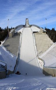 The Holmenkollen Ski Jump outside of Oslo.  A sight I want my children to see!