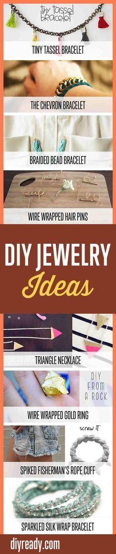 How To Make Cool DIY Bracelets | Handmade Jewelry Making Ideas & Tutorials By DIY Ready. http://diyready.com/handmade-jewelry-diy-bracelets-jewelry-making-ideas/