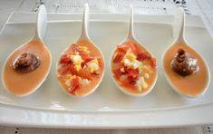 Aquí se cocina: Cucharitas de aperitivo Canapes, Spoon, Sushi, Appetizers, Pudding, Tableware, Kitchen, Desserts, Ideas Geniales