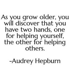 Pinterest/Instagram: @pslilyboutique // As you grow older,  you will discover that you have two hands, one for helping yourself,  the other for helping others... -Audrey Hepburn ❤// 6.7.16 #quotes #madebylily #happytuesday #quote #instafashion #fblogger #stylesubmit #fashionblogger #fashionista #fashiongram #fashion #fashionblog #dailylook #style #summer #style