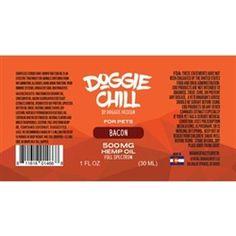 Doggie Chill Full-Spectrum Hemp Oil for Pets - Bacon