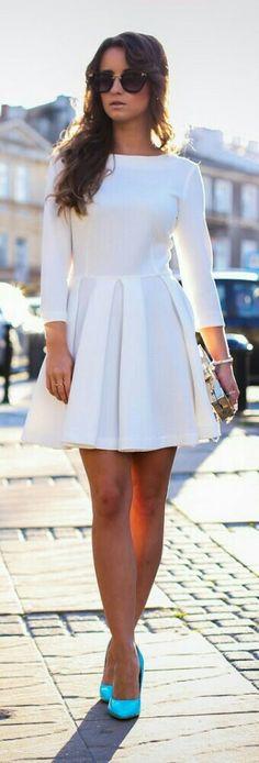Little White Dress / Fashion by Styloly