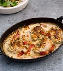 Chicken with mustard and crème fraiche