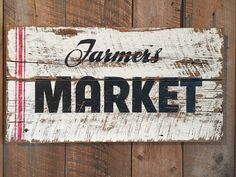 Farmer's Market Sign on Tongue and Groove Barn Wood