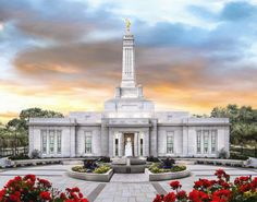 Indianapolis Indiana Temple - A Place of Safety - by Brent Borup