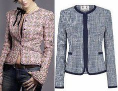 DIY - molde, corte e costura - Marlene Mukai Blazer Outfits, Fall Outfits, Sewing Clothes, Diy Clothes, A Line Kurti, Coco Chanel Fashion, Chanel Jacket, Plus Size Maxi, Business Casual Outfits