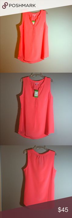 sleeveless Stacey top by Lilly Pulitzer Hot coral sleeveless Stacey top by Lilly Pulitzer Lilly Pulitzer Tops Blouses