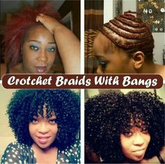 Crochet braids with bangs. I think i want this look