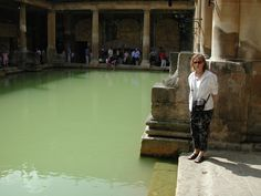 Picture of the hot baths at Bath in England