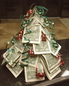 A fun way to give cash as a gift for Christmas!