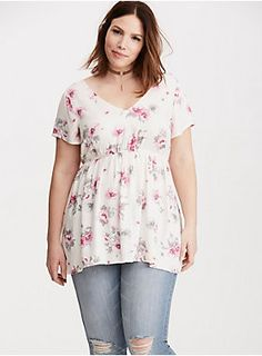 """This top is a reminder to stop and wear the flowers. The silky ivory twill is a floaty alternative, with a gorgeous pink and grey floral print that'll never wilt. The stretch waistband keeps it comfortable, and the cutout crossback is a unique twist that we never saw coming.<div><br></div><div><b>Model is 5'9.5"""", size 1<br></b><div><ul><li style=""""list-style-position: inside !important; list-style-type: disc !important"""">Size 1 measures 31 1/4"""" from shoulder</li><li style=""""li..."""