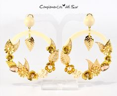 3640b7b9305b Complementos del Sur · Pendientes de Flamenca y Fiesta · Pendientes Dorados