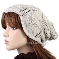 Fashion Brimmed Knitted Hat Crochet Cap Pom Beanie be924op - Hats Caps