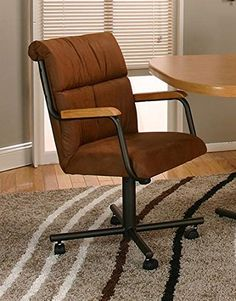Casual Rolling Caster Dining Arm Chair with Swivel Tilt (Set of 2) (Cocoa) Horizon Furniture Store http://www.amazon.com/dp/B00TQ9JIXQ/ref=cm_sw_r_pi_dp_g-Yhvb18T3AAJ