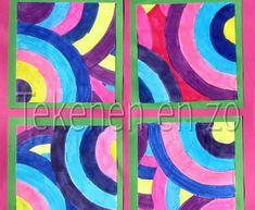 Tekenen en zo: Draaien met cirkels, in de stijl van Sonia Delaunay