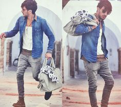 """Inspired by the whole outfit, fit, and color scheme. (""""La Bella Vita"""" by Mohcine Aoki on LOOKBOOK.nu)"""