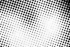 Halftone Dots. Black And White Dot Background. Black Dots On ...