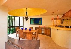 Bold Colors In This Mexican Style Dining Room