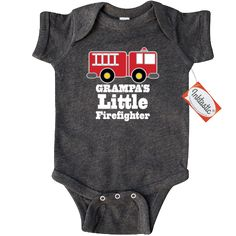 Inktastic My Godmother Is a Firefighter with Fire Truck Newborn Layette