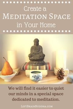 How to create a space for #meditation and stillness in your home that works for YOU. {Plus pictures of my recently redecorated meditation space!}