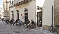 This one is in Lecce, Italy, but it could be anywhere that the streets are car-free, the weather warm and the cafe puts tables outside.