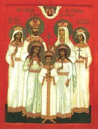 The Saint Romanov Family - Nicholas II, Alexandra, Olga, Tatiana, Maria, Anastasia, Alexei