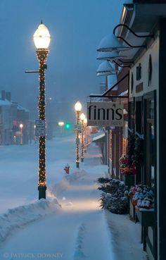 Ellsworth, Maine Winter Szenen, Winter Love, Winter Magic, Winter Christmas, Winter Night, Snow Night, Cold Night, Winter Start, Maine Winter