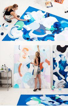 Kirra Jamison · Drink, Salt, Moon - The Design Files Robert Rauschenberg, Modern Art, Contemporary Art, The Design Files, Blog Design, Design Design, Pretty Art, Art Studios, Artist At Work