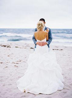 #beach Photography: Jen Wojcik Photography - jenwojcikphotography.com Wedding Dress: Blush Bridal Couture - http://blushbridalcoutureoc.com