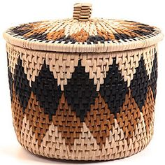 Zulu Palm Herb Basket 5""