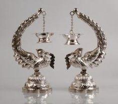Jade Jewelry, Bridal Jewelry, Silver Jewelry, Silver Jewellery Indian, Temple Jewellery, Arabesque, Silver Payal, Silver Pooja Items, Elephant Home Decor