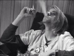 smoke and kurt cobain image