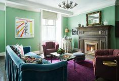 Modern Interior Design Trends For Seating Color Schemes Ideas Modern Victorian Bedroom, Victorian House Interiors, Modern Bedroom Design, Modern Room, Victorian Homes, Victorian Design, Trends 2018, Interior Design Trends, Interior Modern